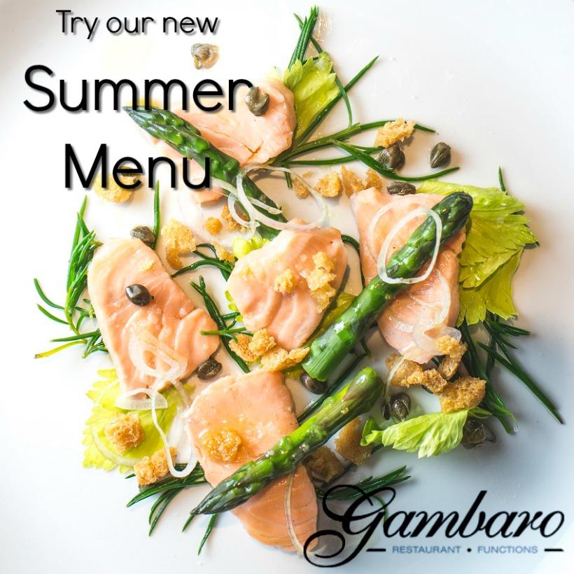 Gambaro Seafood Restaurant New Summer Menu 2016